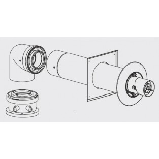 Bosch Greenstar Concentric PP Horizontal Up and Out Vent Kit (7738003218)