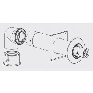 Bosch Greentherm Concentric PP Horizontal Up and Out Vent Kit (7738003210)