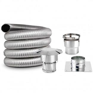 """Z-Flex 8"""" x 35' Stainless Steel Flexible Chimney Liner Kit (2KT294C0835)"""