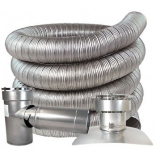 "Z-Flex 9"" x 40' All Fuel Stainless Steel Kit (2ZFLKIT0940)"