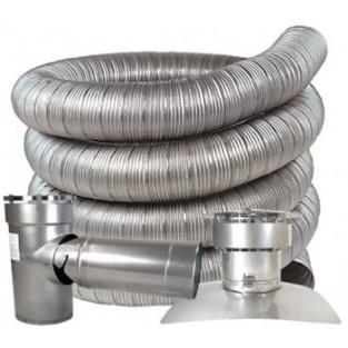 "Z-Flex 9"" x 50' All Fuel Stainless Steel Kit (2ZFLKIT0950)"