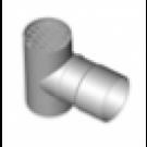 "Z-Flex Z-Dens 6"" Termination Tee with Screen - Stainless Steel (2ZDTT6)"