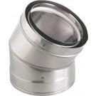 "Z-Flex Z-Vent 9"" x 45 Degree Elbow Stainless Steel Venting (2SVDE0945)"
