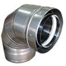 "Z-Flex Z-Vent 12"" x 90 Degree Elbow Stainless Steel Venting (2SVDE1290)"