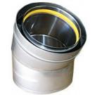 "Z-Flex Z-Vent 22"" x 30 Degree Elbow Stainless Steel Venting (2SVDE2230)"