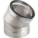 "Z-Flex Z-Vent 24"" x 45 Degree Elbow Stainless Steel Venting (2SVDE2445)"