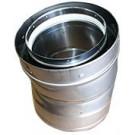 "Z-Flex Z-Vent 28"" x 15 Degree Elbow Stainless Steel Venting (2SVDE2815)"