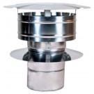 "Z-Flex Z-Vent 28"" Low Resistance Rain Cap Stainless Steel Venting (2SVDRC28)"