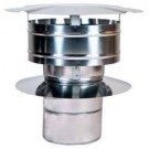 "Z-Flex Z-Vent 32"" Rain Cap with Wind Band Stainless Steel Venting (2SVDRCX32)"