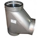 """Z-Flex Z-Vent 18"""" Boot Tee Stainless Steel Venting (2SVDTBT18)"""