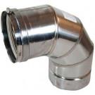 "Z-Flex Z-Vent 14"" x 90 Degree Elbow Stainless Steel Venting (2SVEE1490)"