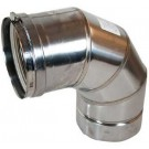 "Z-Flex Z-Vent 14"" x 90 Degree Elbow Stainless Steel Venting (2SVEE1490)"