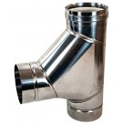 "Z-Flex Z-Vent 12"" Boot Tee Stainless Steel Venting (2SVSTBT12)"